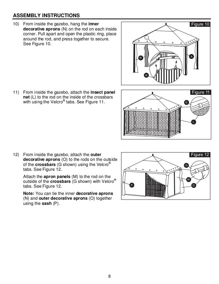 Sunjoy Gazebo Instruction Manual