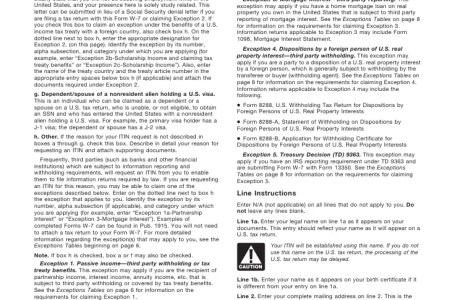 Free Resume Format Irs Itin Form Resume Format