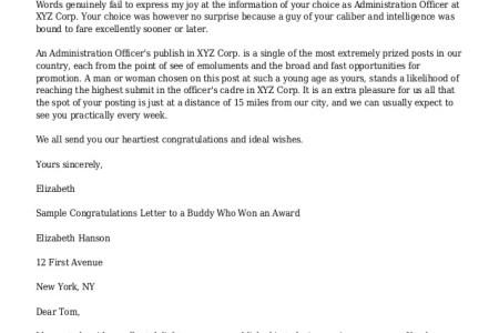 Congratulation letter for award free professional resume winner congratulations letter example congratulation award letter sample congratulations letter template for award sample congratulation congratulations spiritdancerdesigns Gallery