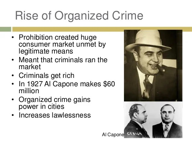 what was organized crime in the 1920s