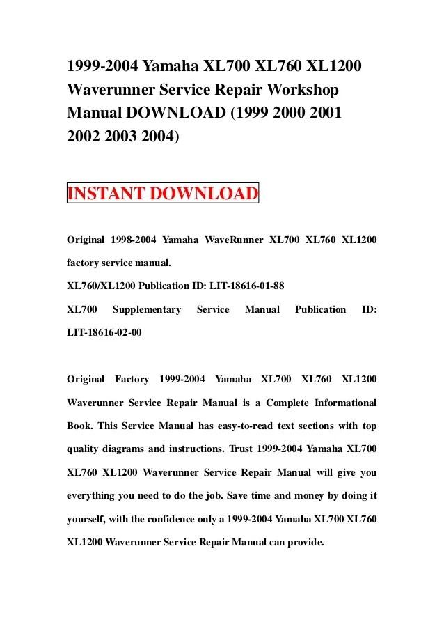 yamaha xl700 waverunner 2001 wiring diagram color free download rh oasis dl co