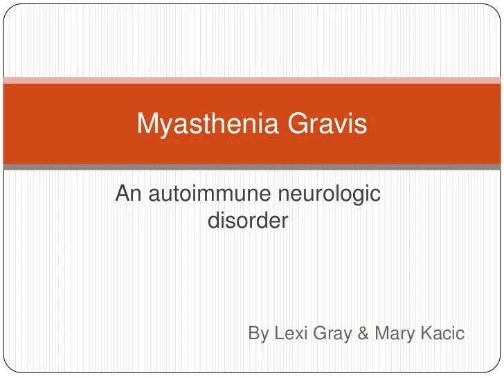 Thymoma Myasthenia Gravis Symptoms