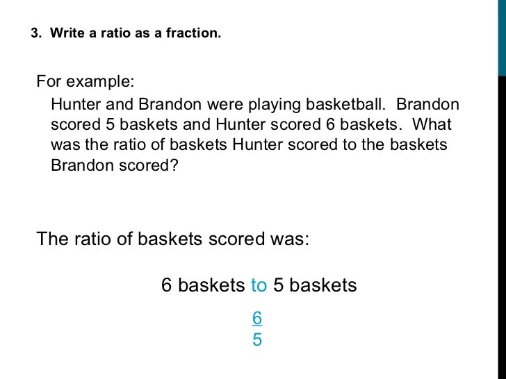 Sixth Grade Ratio And Proportion