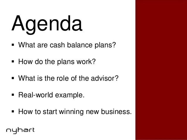A Financial Advisors Guide to Cash Balance Retirement Plans