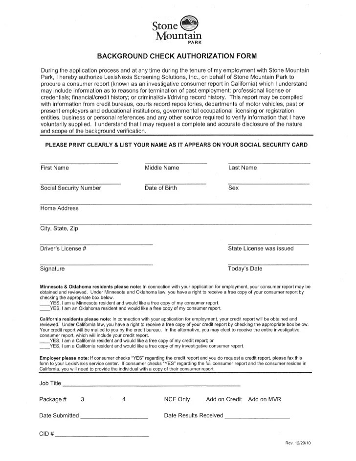 2012 new hire packet