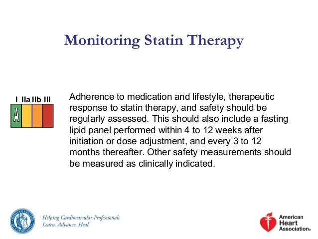 High Statin Dose Low Moderate