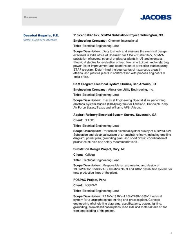 Awesome Substation Engineering Resume Vignette - Best Resume ...