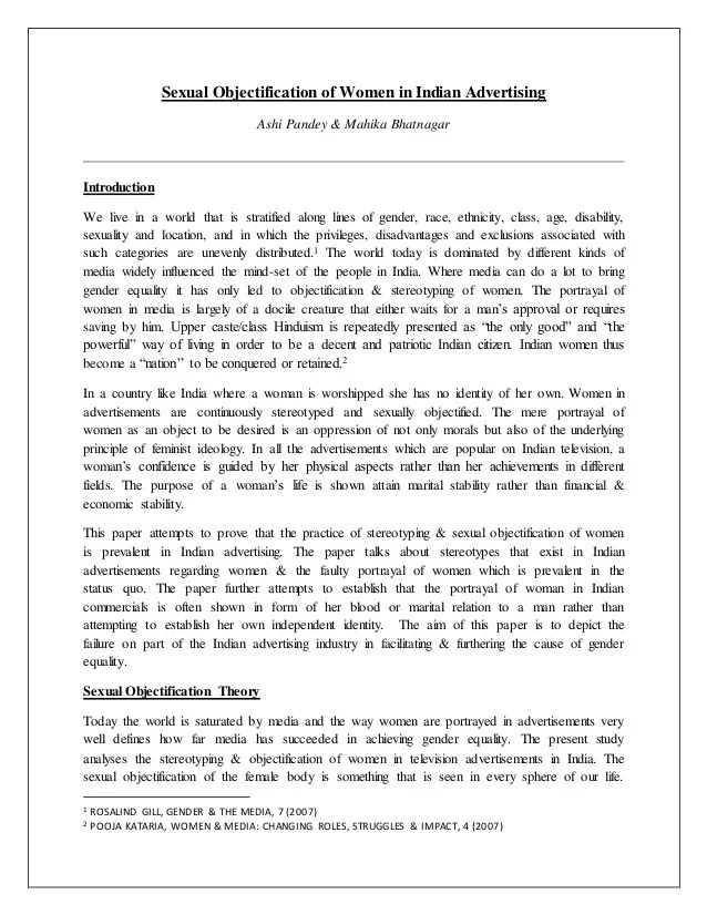 Research Paper Introduction Stereotype