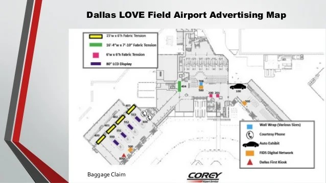 Dal Love Field Airport Map