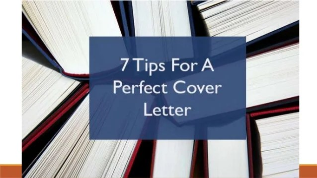 7 Tips For Perfect Cover Letter Don t send generic cover letters 2