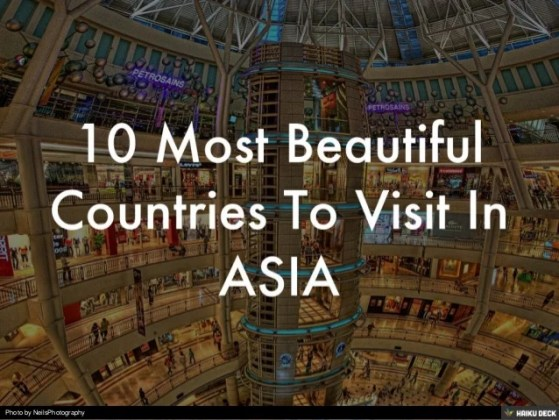 10 most beautiful countries to visit in ASIA