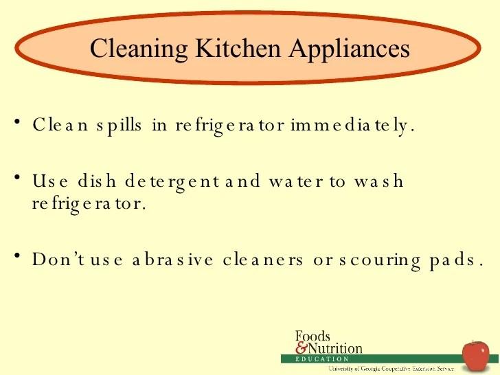 Kitchen Safety Clean Spills Immediately