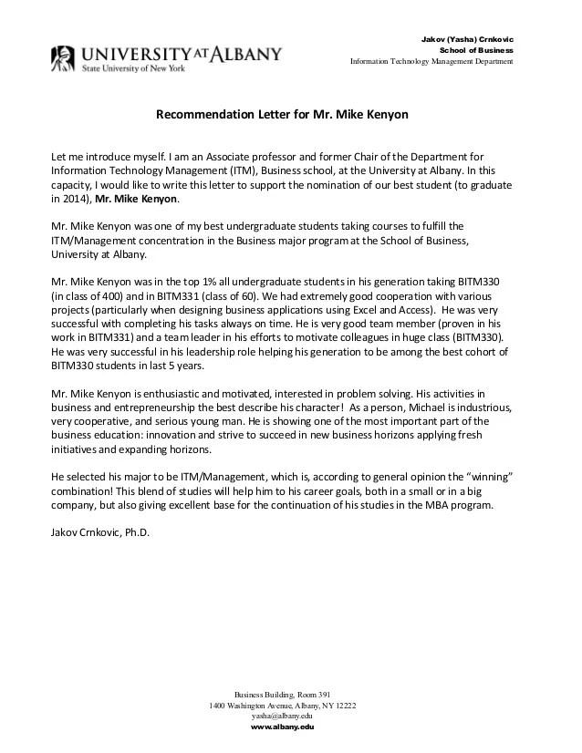 Recommendation Letter Pt Student