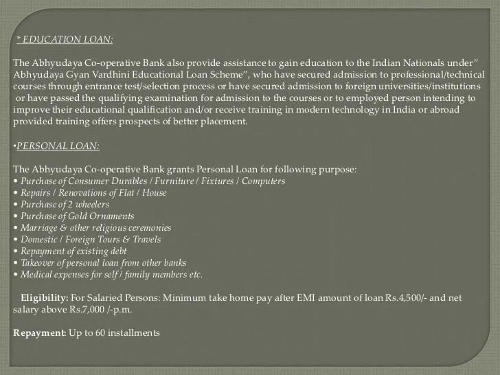 Abhyudaya Bank Personal Loan