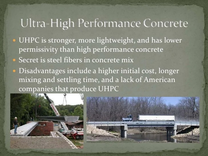 Ultra High Performance Concrete