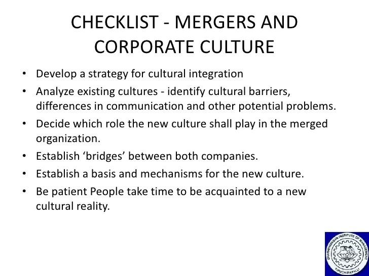 Integration Merger Project