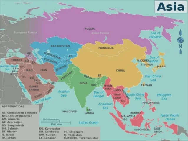 Asian countries slideshare Asian countries  2  List of