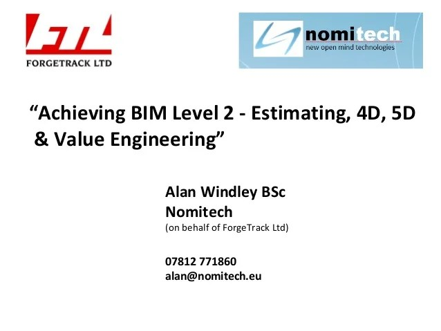 Bim Estimating Cost Tools