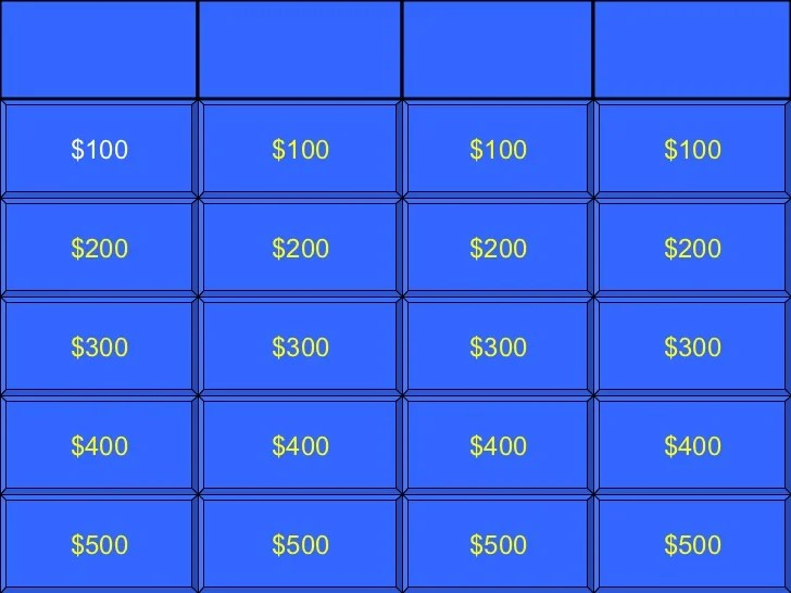 Jeopardy Template Playbestonlinegames