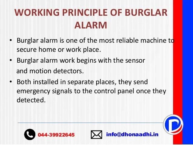 Security Alarm Ppt