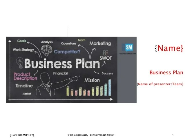 Business plan template  Name  Business Plan   Date DD MON YY       Smylingassasin