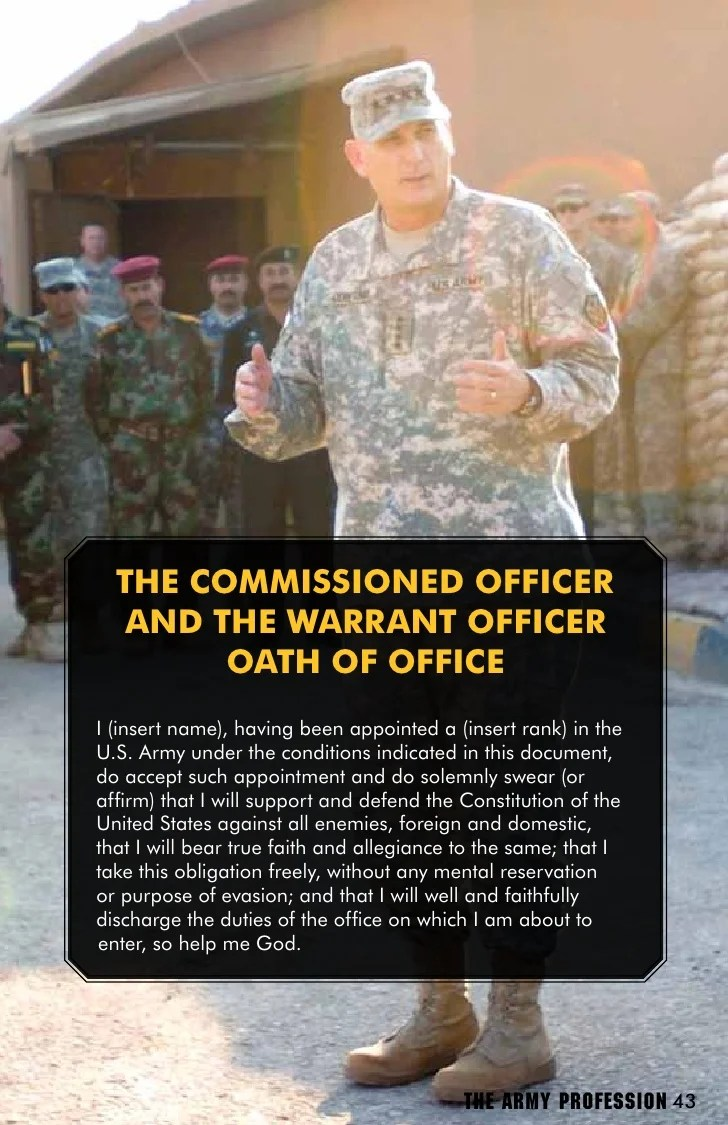 warrant officer creed