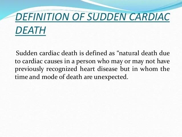 Cardiac arrest and sudden cardiac death
