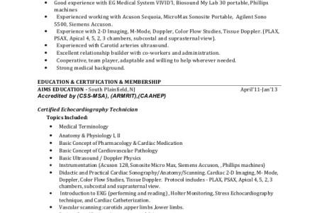 cardiac sonographer certification » Free Resume Format   Resume Format