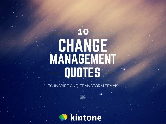 10 Change Management Quotes