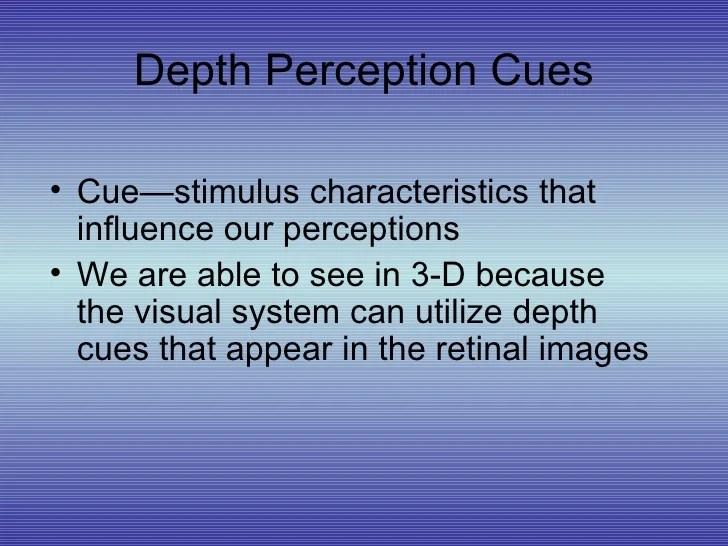 types of binocular cues