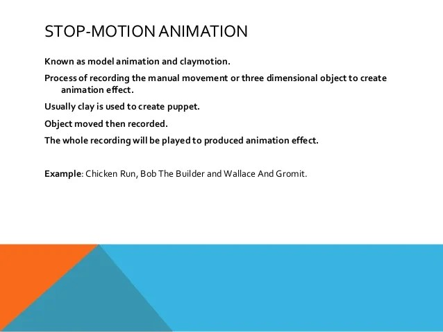 Stop Cartoons Animation Clay Motion