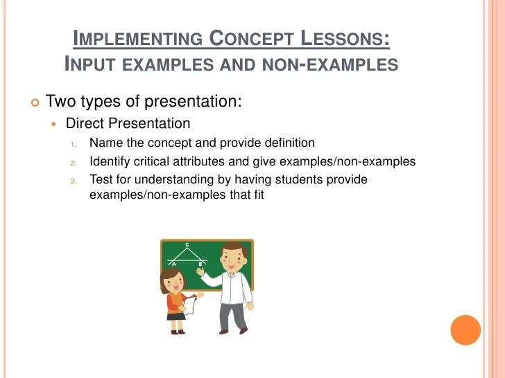 A Example Of Direct Instruction Lesson Plan