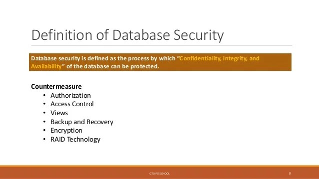 Define Database Security