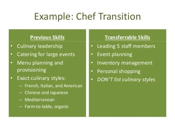 Personal Branding and Resume Building DEMA 2016     chef transition  24