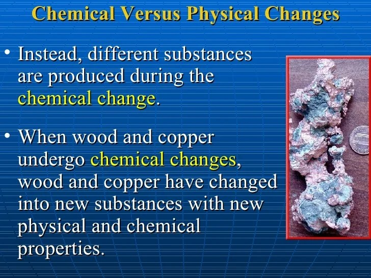 And What Physical And Chemical Substance They Are Changes How Used Are
