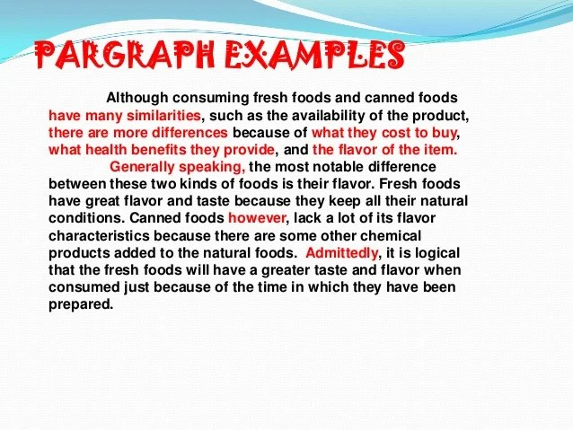 Fresh Food Vs Canned Food Essay
