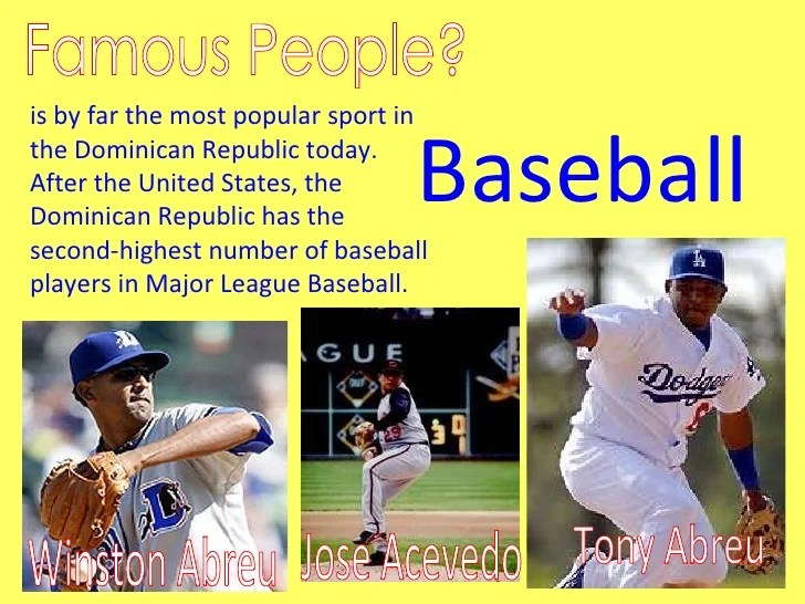 Famous People Dominican Republic Baseball