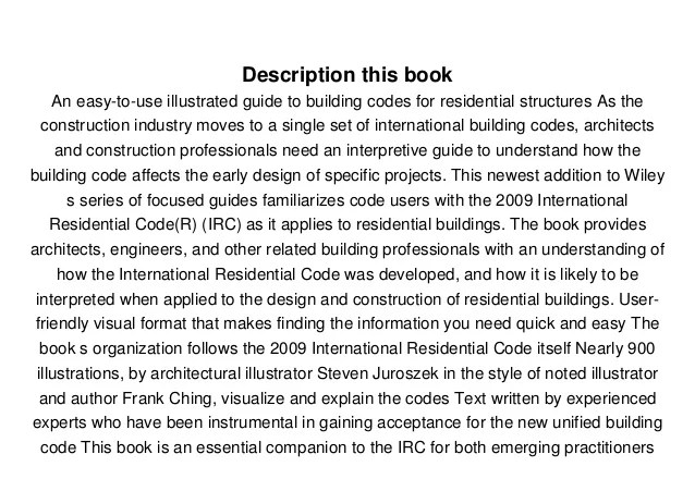 Download Residential Building Codes Illustrated: A Guide ...