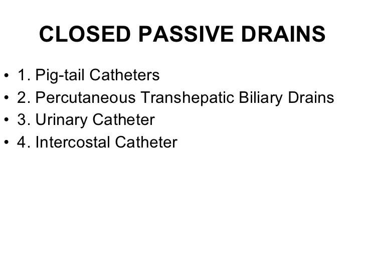 Percutaneous Drains Types