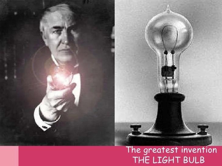 Tomas Edison Light Bulb
