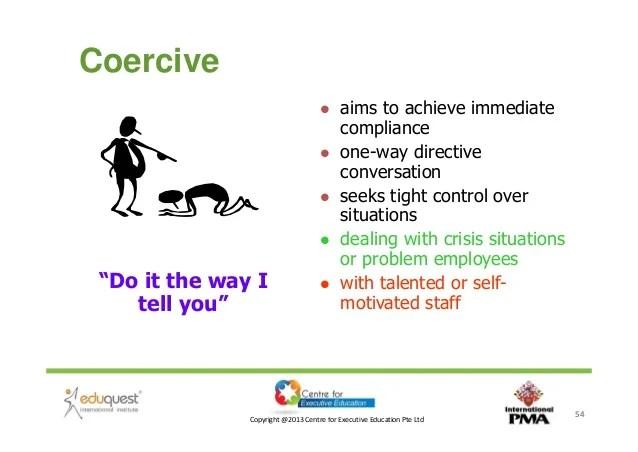 Commanding Coercive Leadership Styles