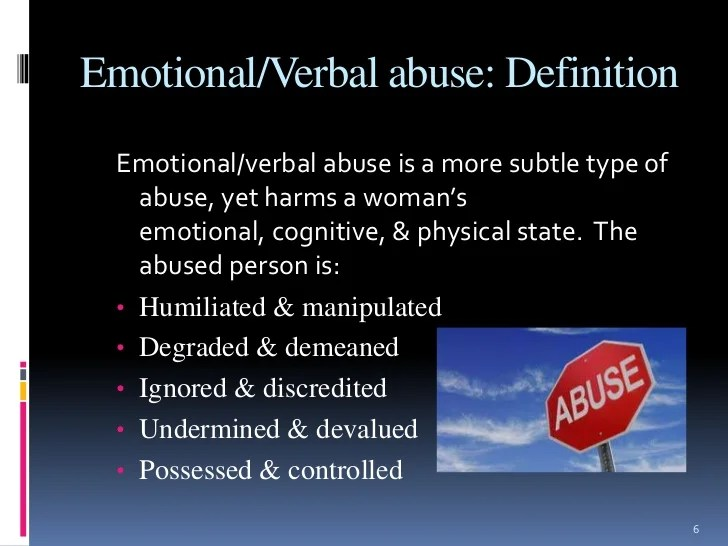 Dating emotionally abused woman