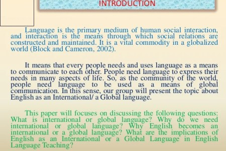 essay about english language as international  mistyhamel essay about english as an international language poemsview co
