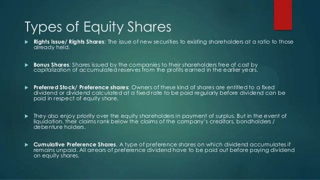 Equity Securities Are