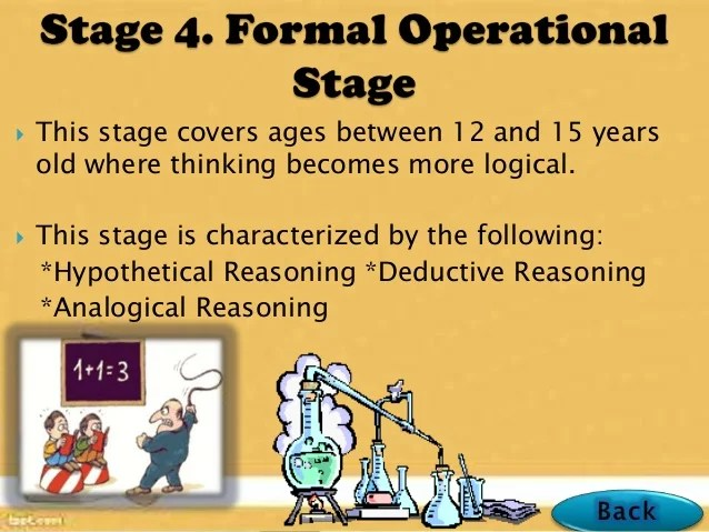 Concrete Operational Stage Reversibility