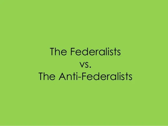 Federalist Vs Anti Federalist Venn Diagram
