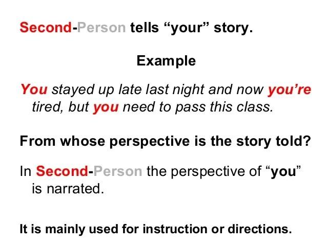 second person narrative examples