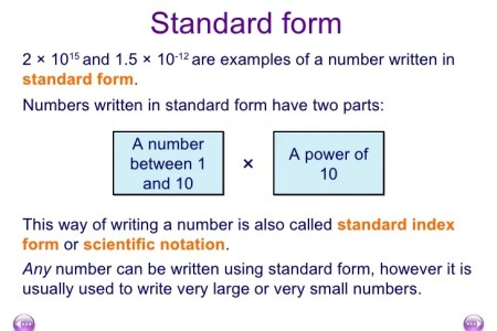 Free Application Forms Scientific Notation To Standard Form