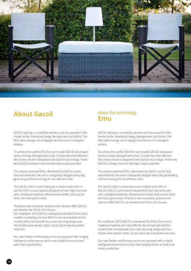 Gacoli Solar Powered Outdoor Lighting