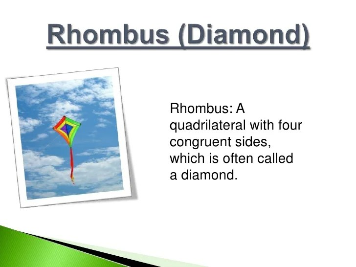 Real World Examples Rhombus